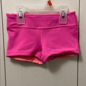 Ivivva Pink & Orange Reversible Exercise Shorts